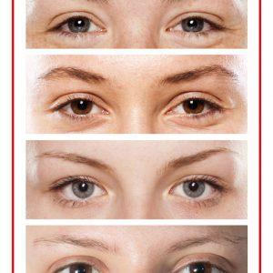 Oefenhuid wenkbrauw/ooglid